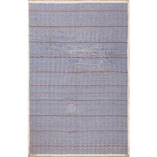 Vintage Scandinavian Swedish Kilim Rug by Marta Maas Fjetterstrom - 6′6″ × 9′1″ For Sale