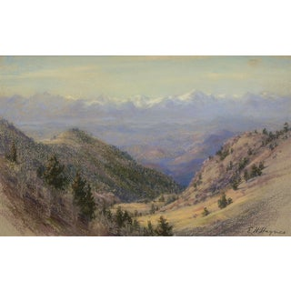 """Sangre De Cristos (Colorado)"" Original Pastel Painting by Early Colorado Artist, Elsie Haddon Haynes (1881-1963) For Sale"