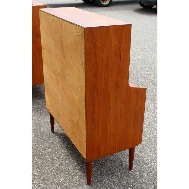 Mid-Century Modern Danish Teak Drop Down Desk Secretary Dresser Peter Hvidt 1960 For Sale In Detroit - Image 6 of 7