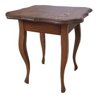 Victorian Oak Small Side Table For Sale