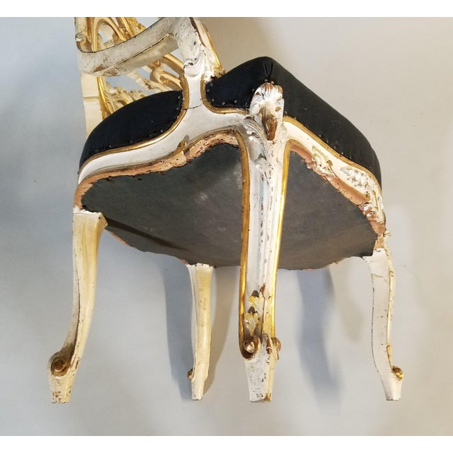 Gold Pair of Late 19th Century Louis XIV Style Signed Maison Jansen Arm Chairs For Sale - Image 8 of 12