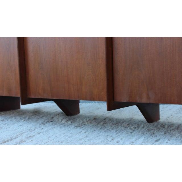 Robsjohn-Gibbings Modernist Walnut Credenza For Sale - Image 10 of 13