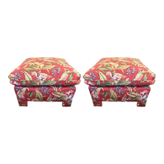 Marge Carson Ottomans - A Pair - Image 12 of 12