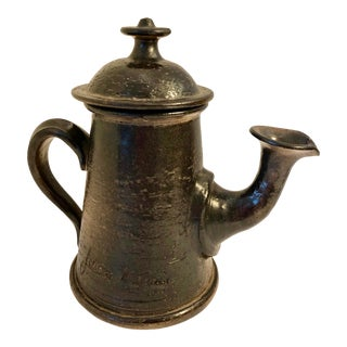 French Art Pottery Signed Coffee Pot by Famous French Actor Jean Marais , Vallauris 1960 For Sale