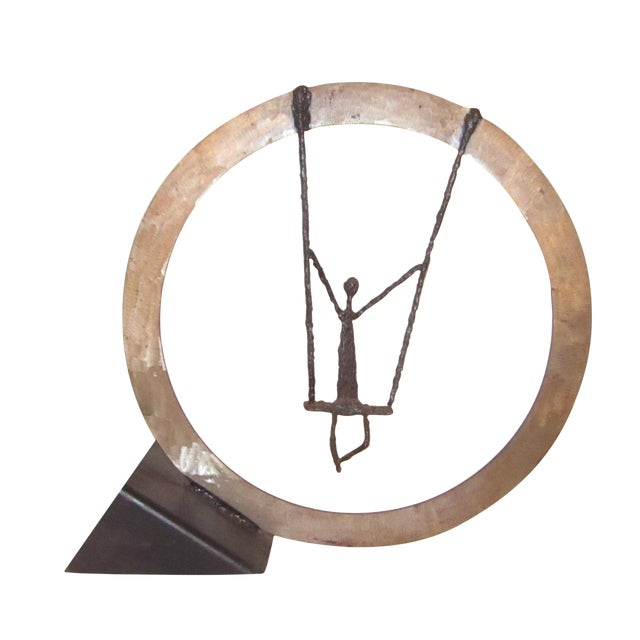 Large Hand Crafted Art Swing Sculpture - Image 1 of 6
