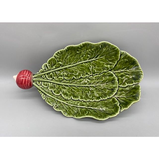 20th Century Majolica Radish Vegetable Platter/Dish For Sale - Image 10 of 10