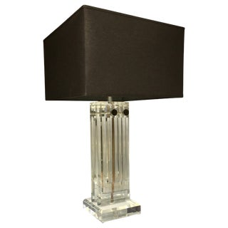 Mid-Century Modern Lucite Skyscraper Table Lamp For Sale