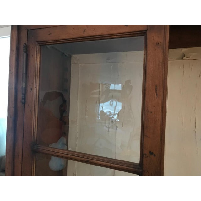 Large and impressive cabinet with original rolled glass door panels that would be at home in the bedroom, kitchen, dining...