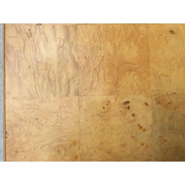 Wood Mid Century Modern Henredon Scene Two Burlwood Table For Sale - Image 7 of 11