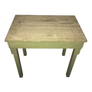 Rustic Farmhouse Style Green Table For Sale