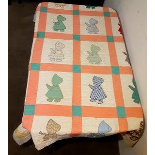 Vintage American Handmade Blanket Quilt Preview