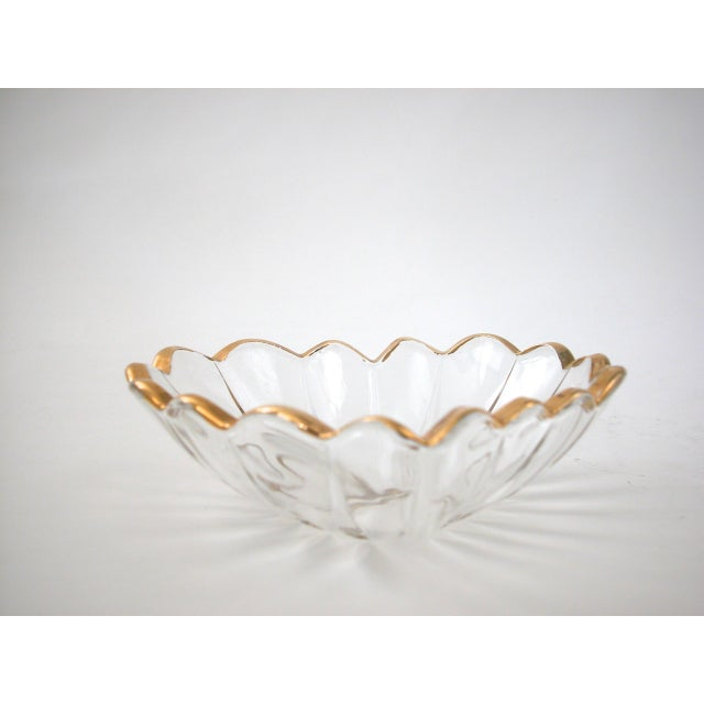 Glass and Gold Heart Dish - Image 8 of 9