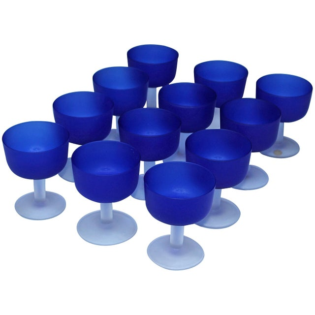 12 Italian Glass Goblets For Sale - Image 11 of 11