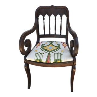 1700s Antique Scroll Chair For Sale