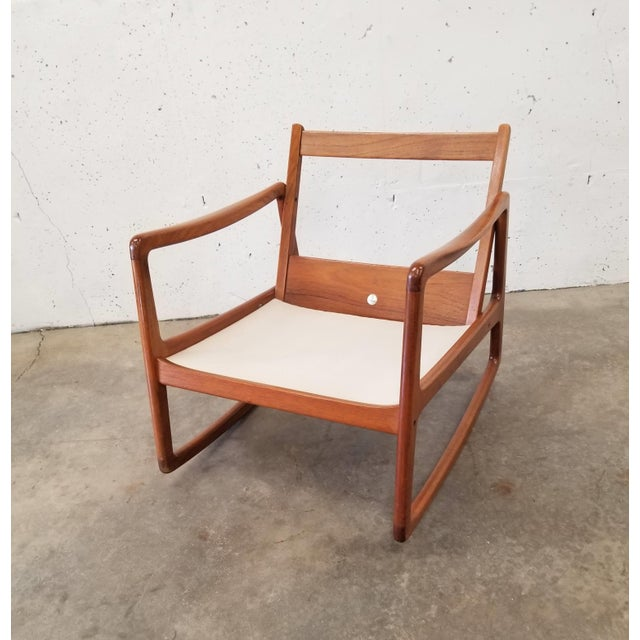 Danish Modern 1960s Danish Modern Sculpted Teak Rocking Chair For Sale - Image 3 of 10
