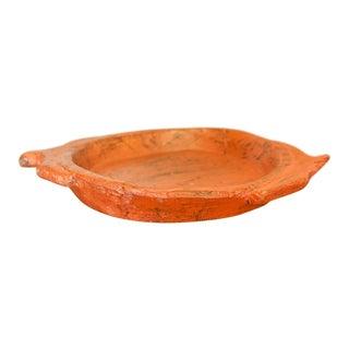 Orange Antique Dough Platter For Sale