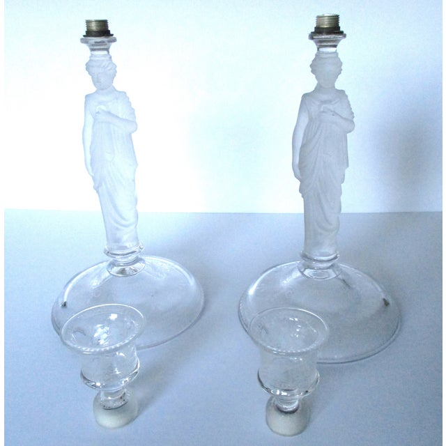 Victorian Camphor Glass Candlesticks - Pair - Image 9 of 9