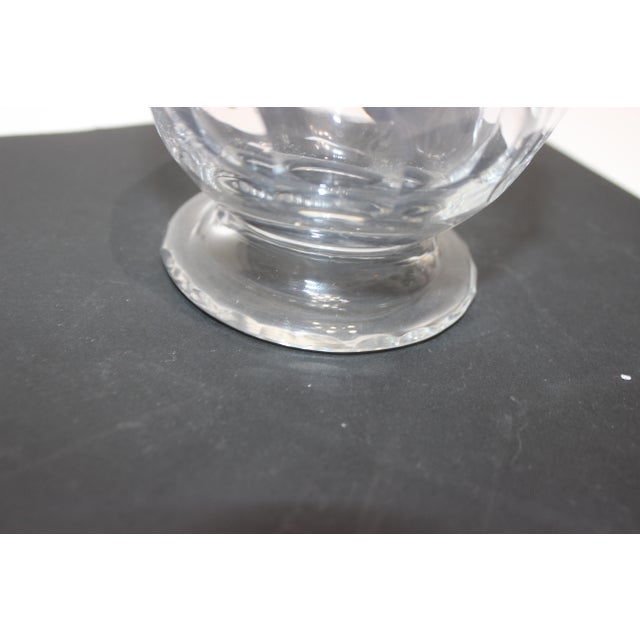 Modern Petit Crystal Vase in Wave Pattern 1940s For Sale - Image 3 of 9