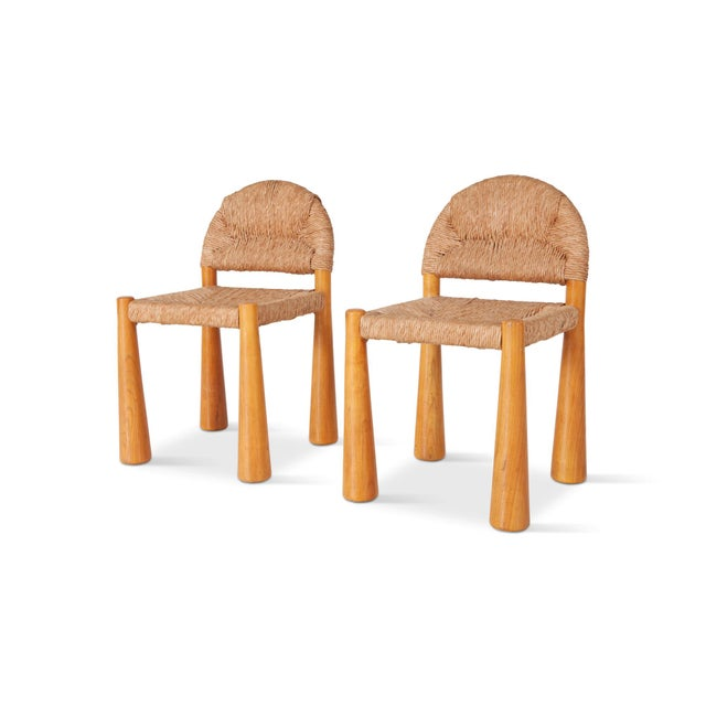 Brown Wicker & Solid Pine Toscanolla Chairs by Alessandro Becchi for Giovanetti For Sale - Image 8 of 8