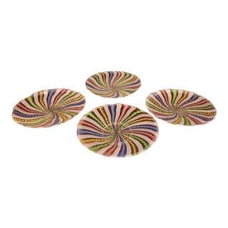 Set of 4 Vintage Venetian Glass Plates