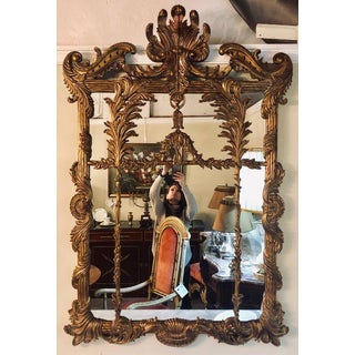 La Barge Italian Style Foliate Giltwood Wall, Console or Over the Mantle Mirror Preview