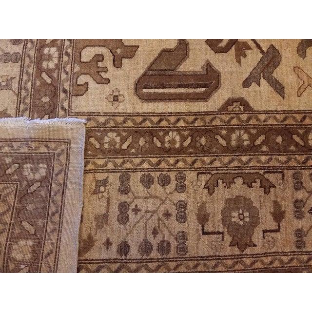 "Kafkaz Peshawar Casey Ivory & Tan Wool Rug - 10'2"" x 13'6"" For Sale In New York - Image 6 of 7"