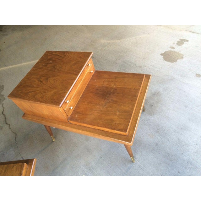 Mid-Century Step Side Tables - A Pair For Sale - Image 4 of 10