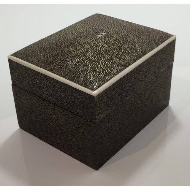 1990s 1990s Art Deco R & Y Augousti Shagreen Box For Sale - Image 5 of 11