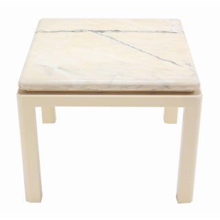 20th Century Modern Marble-Top and Enameled Metal Base Game/Dining Table Preview