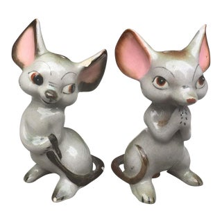 1950s Gnco Mice Salt & Pepper Shakers - a Pair For Sale