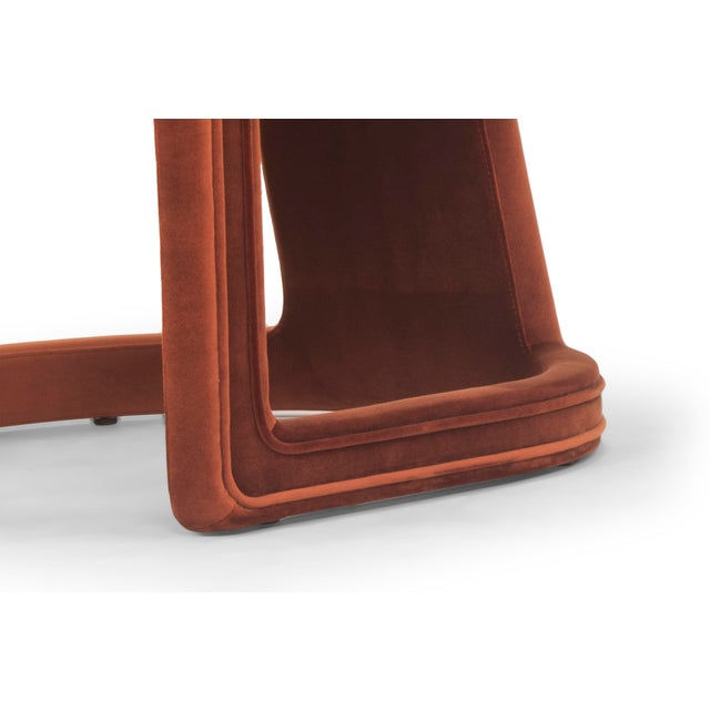 2010s Rory Side Chair in Rust For Sale - Image 5 of 6