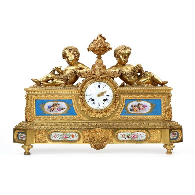 Gilt Bronze & Porcelain Mantel Clock - Image 2 of 11
