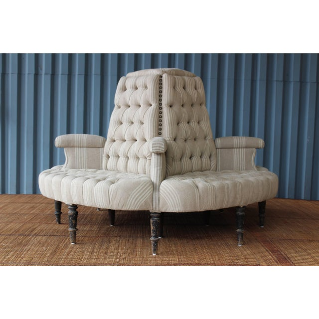 Antique 19th Century French Napoleon Boudoir Sofa For Sale - Image 9 of 11