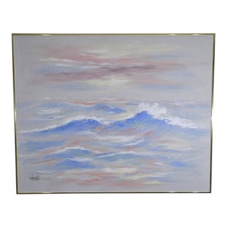 1980s Lee Reynolds Seascape Oil Painting For Sale