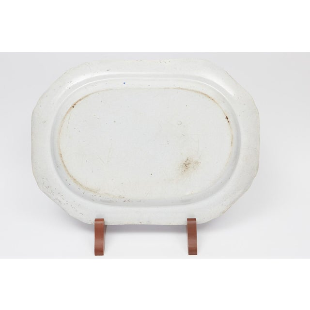English Traditional Large English Blue & White Platter For Sale - Image 3 of 4