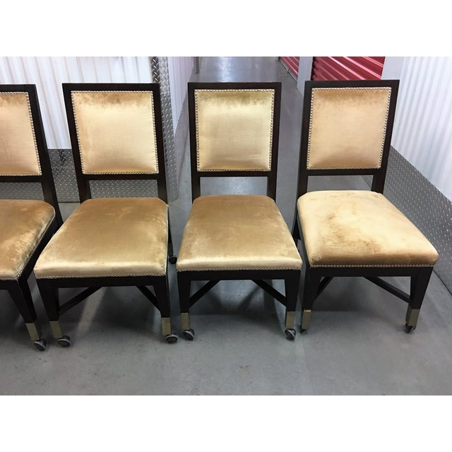Mark David Gold Velvet Dining Chairs - Set of 6 For Sale In Las Vegas - Image 6 of 9