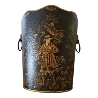 Chinoiserie Waste Basket For Sale