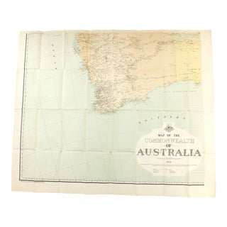 Vintage South West Australian Map For Sale