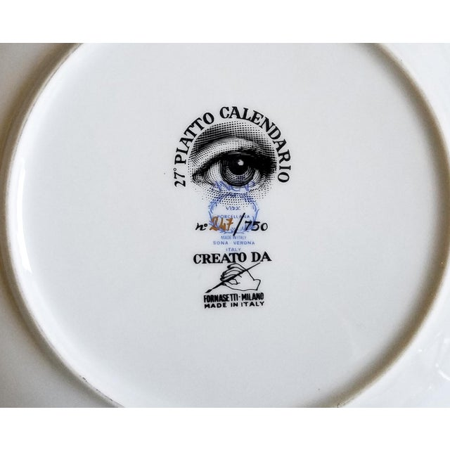 Barnaba Fornasetti Calendar Plate for 1994 - Image 6 of 6