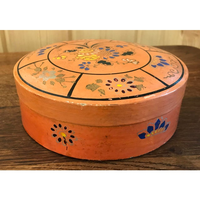 Hand Painted Paper Mache Box For Sale - Image 5 of 10