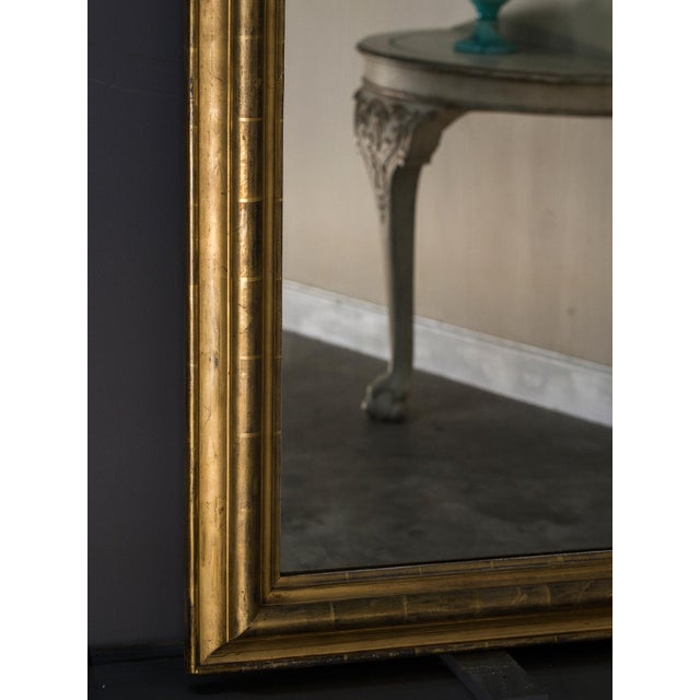 Antique French Louis Philippe Mirror with a Cartouche circa 1890 For Sale - Image 9 of 10