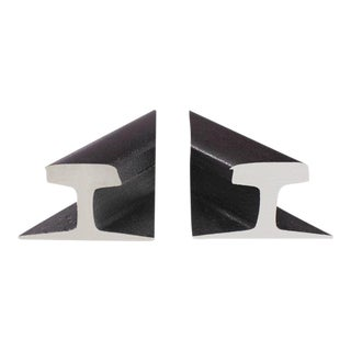 Rail Road Sections Bookends - a Pair For Sale