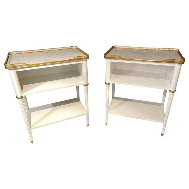 Pair of Swedish Neoclassical Open Nightstands or End Tables Manner Jansen For Sale - Image 13 of 13