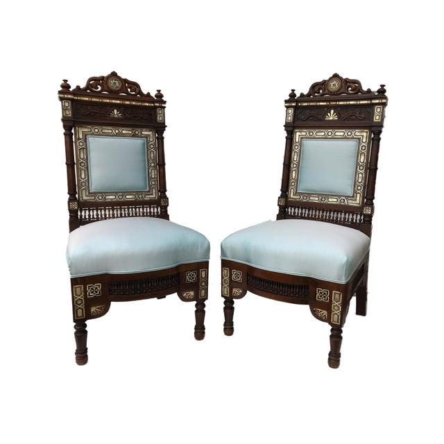 Museum Pieces 19th C Moorish Pair of Chairs For Sale In New York - Image 6 of 12