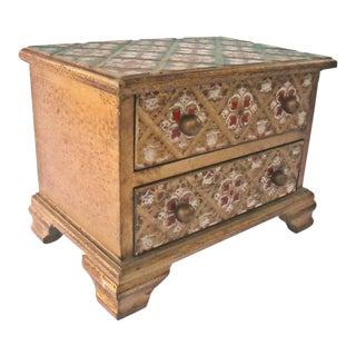 Vintage Florentine Jewelry Box Italy For Sale