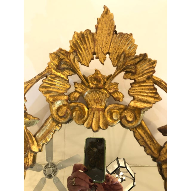 Italian Italian Carved Giltwood Mirror For Sale - Image 3 of 8