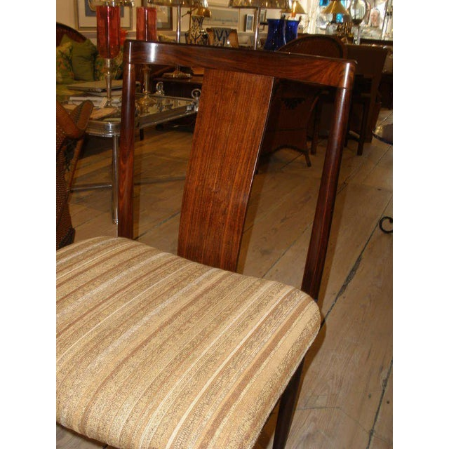 Wood Rosewood Mid-Century Modern Side Chairs With Upholstered Seat - a Pair For Sale - Image 7 of 10