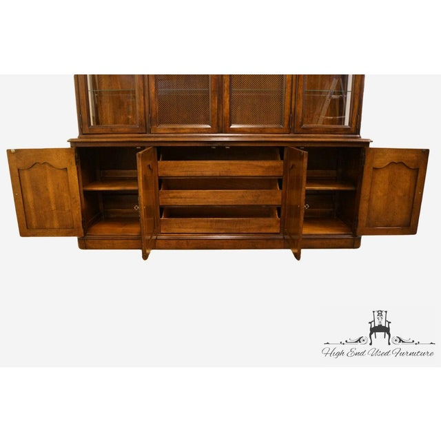"""20th Century French Country White of Mebane Lorraine Collection 80"""" Buffet For Sale In Kansas City - Image 6 of 13"""