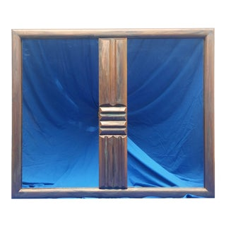 Mid-Century Brutalist Copper Mirror For Sale