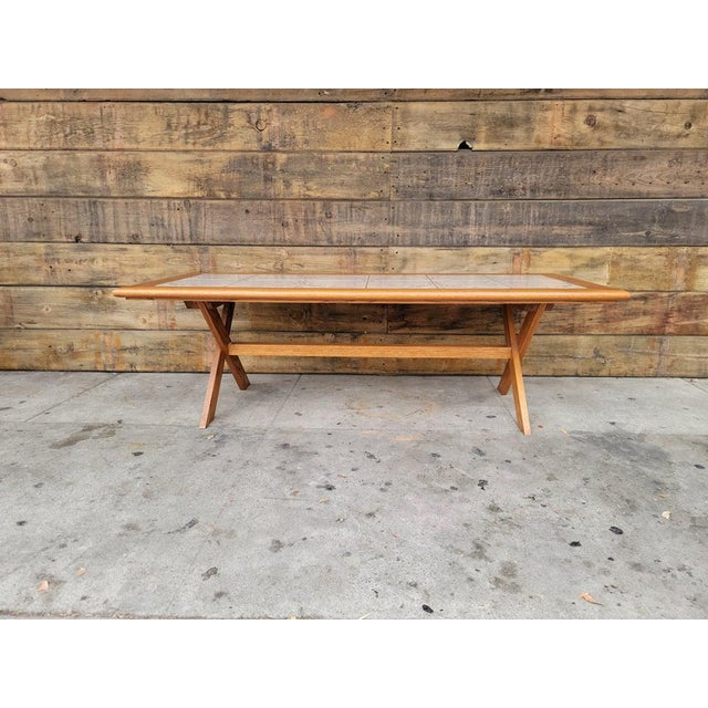 1980s Vintage Tile Top Coffee Table For Sale - Image 12 of 13